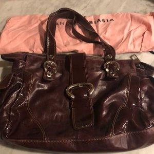Francesco Biasia burgundy leather bag